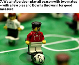The press release initially used Lego figures to illustrate ways people could spend their money