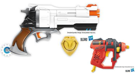 Overwatch McCree Nerf Rival Blaster with Die Cast Badge
