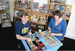 Ian Elliott, pictured with partner Lexi Knight, has become the European Pokémon champion