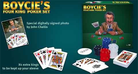Boycie Four King Poker Set