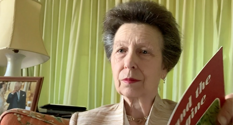 The Princess Royal reads Thomas and Friends